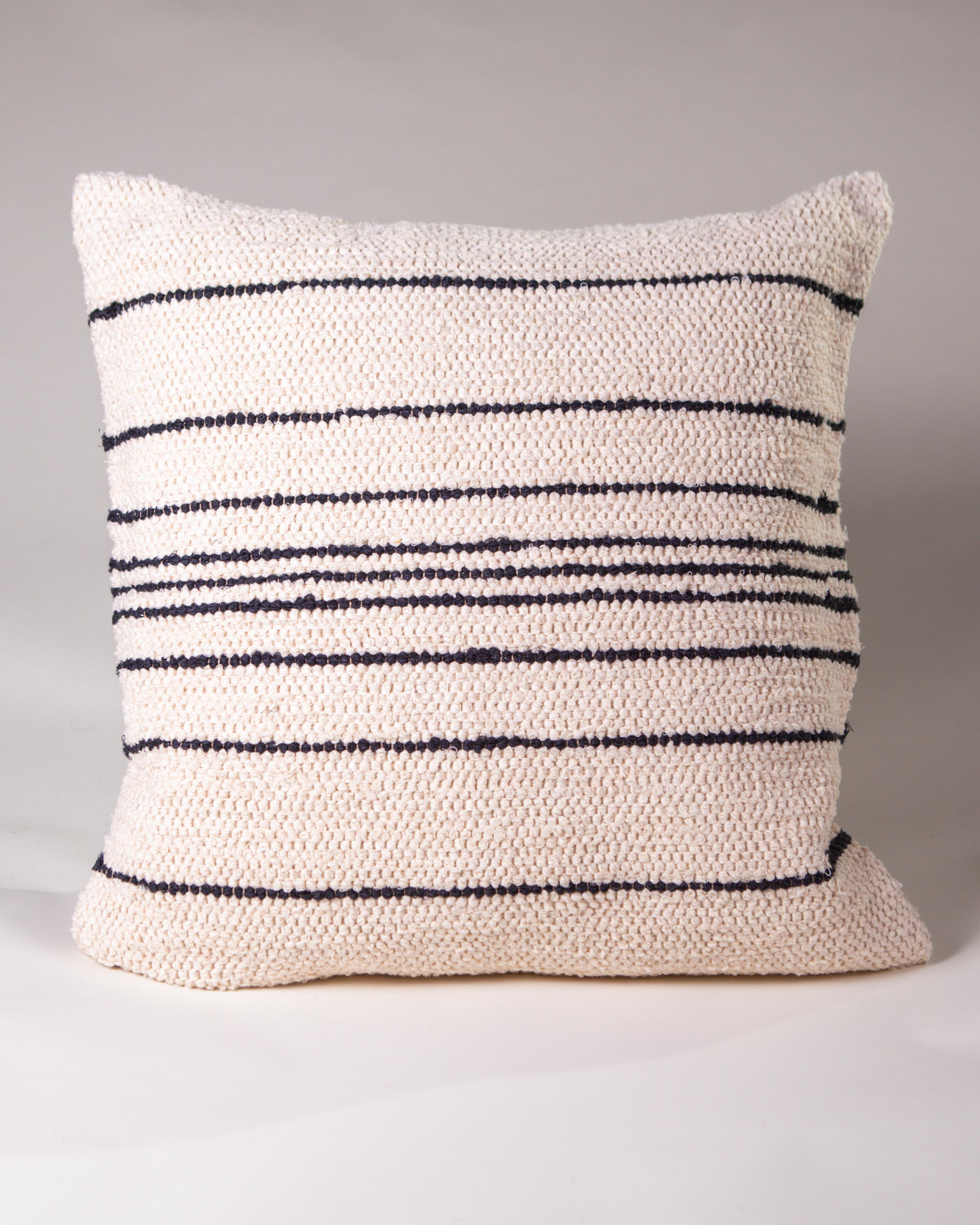 Casa Cubista Thin Stripe Pillow - Cream