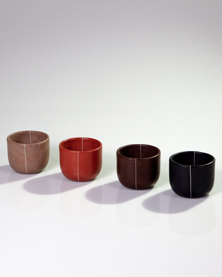 Clay Cups, set of 4