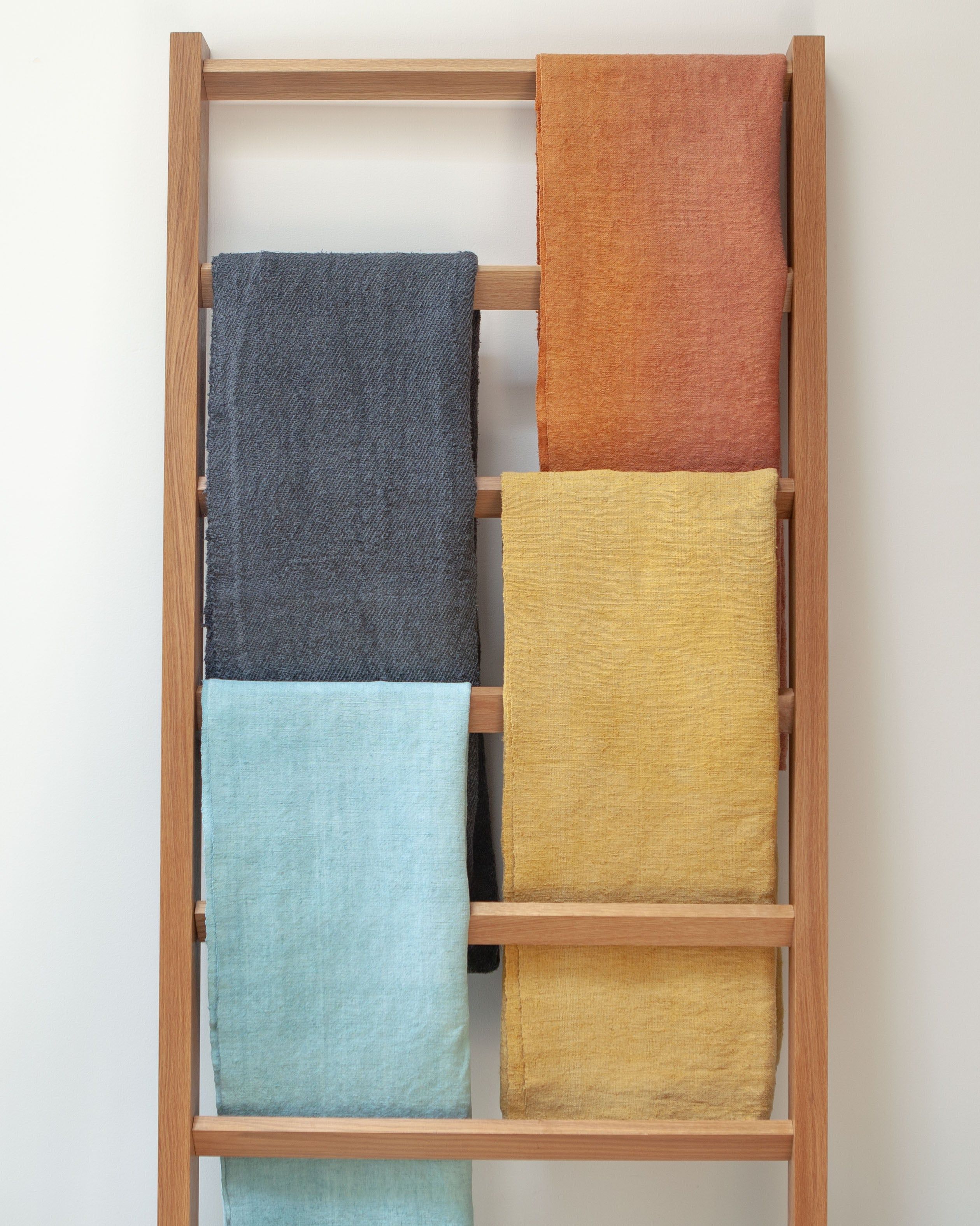 Hand-painted vintage linen throws