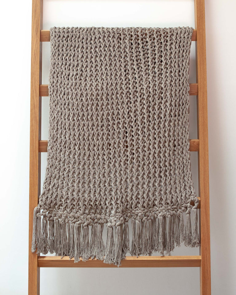 Recycled Cotton Yucatan Throw - Grey