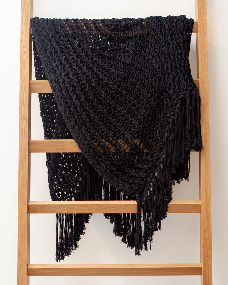 Recycled Cotton Yucatan Throw - Black
