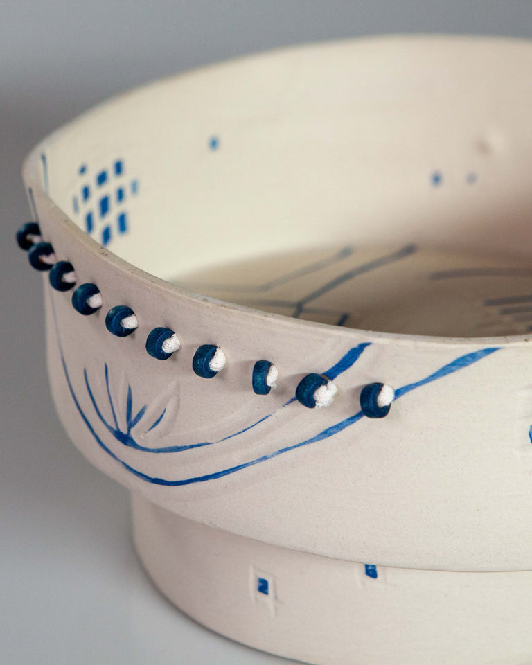 Berber White & Blue Bowl