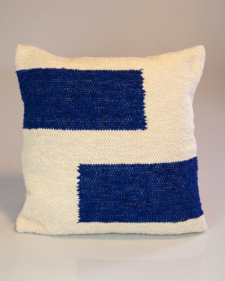 Casa Cubista Maze Pillow - Navy Blue