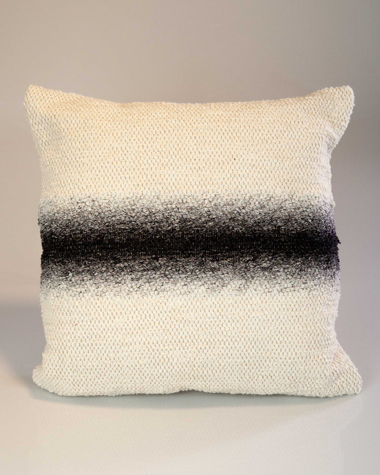 Casa Cubista Ombre Stripe Pillow - Charcoal