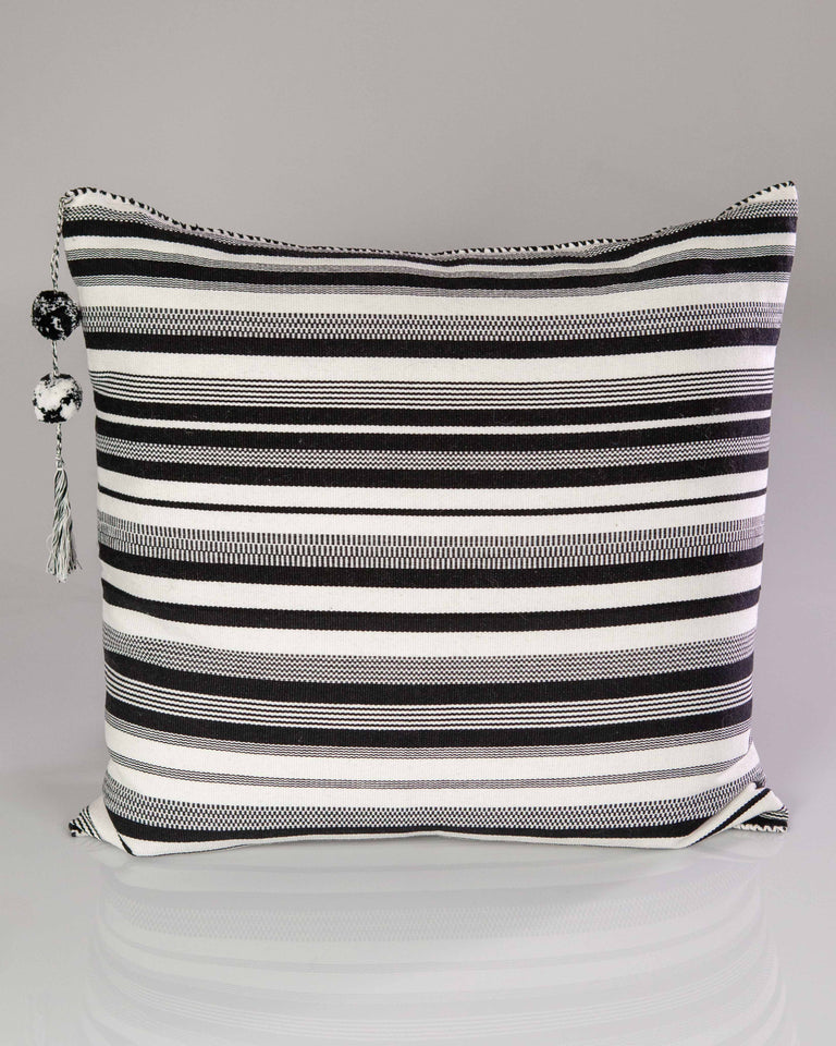 SanCri B&W Thin Stripe Pillow