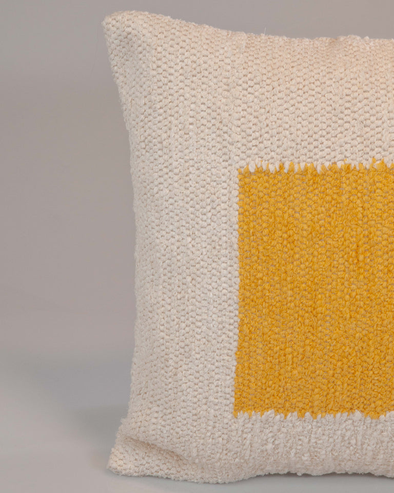 Casa Cubista Square Pillow- Ochre Yellow