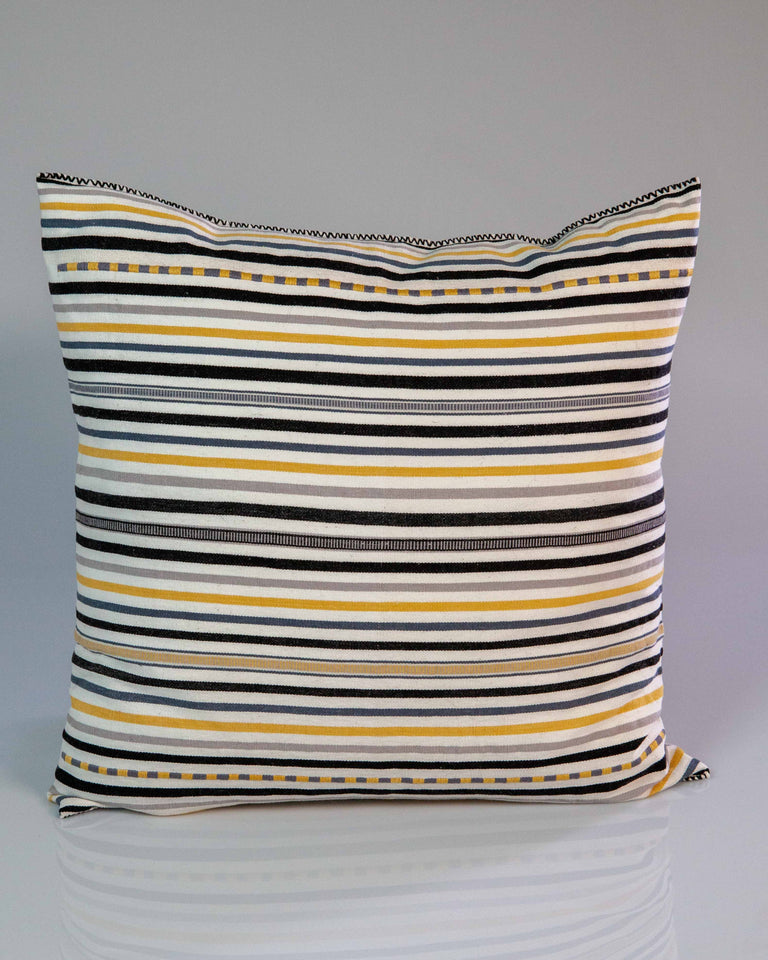 Carmela Throw Pillow - Black, White and Gold