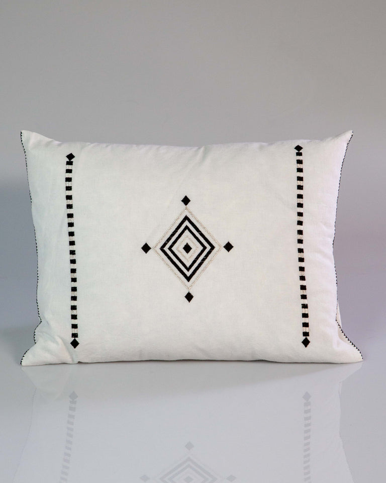 Hand-woven Ojo De Dios Cotton Pillow