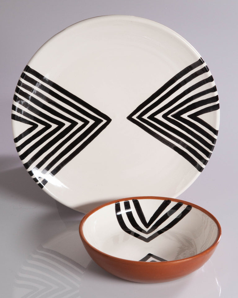 Casa Cubista Graphic Tableware - Double Chevron