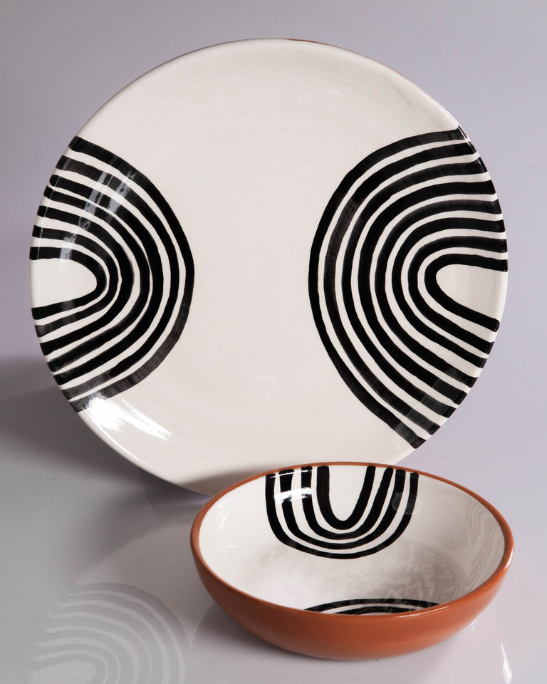 Casa Cubista Graphic Tableware - Double Arch