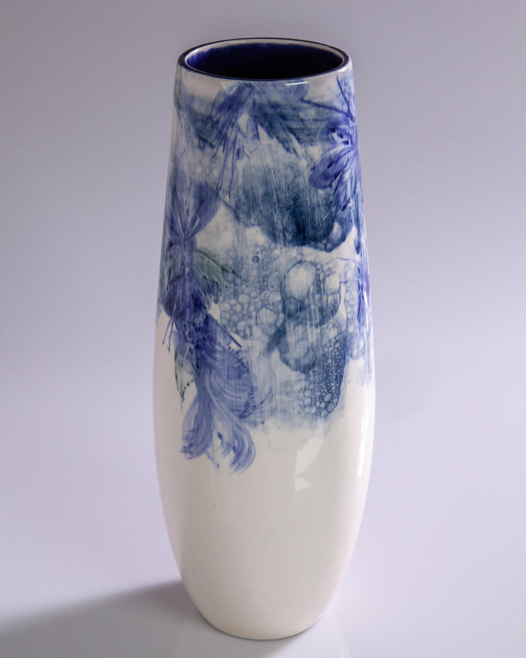 Watercolor Vase by Pablo Luzardo - Blue