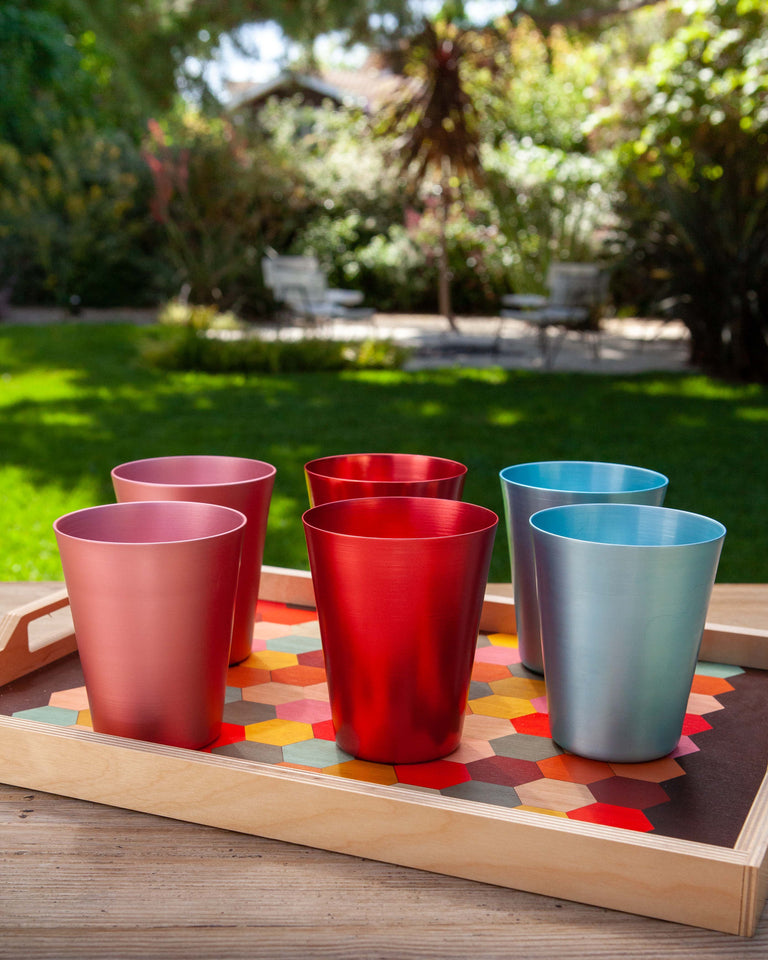 100% Re-cycled Anodized Aluminum Tall Tumbler - Rose