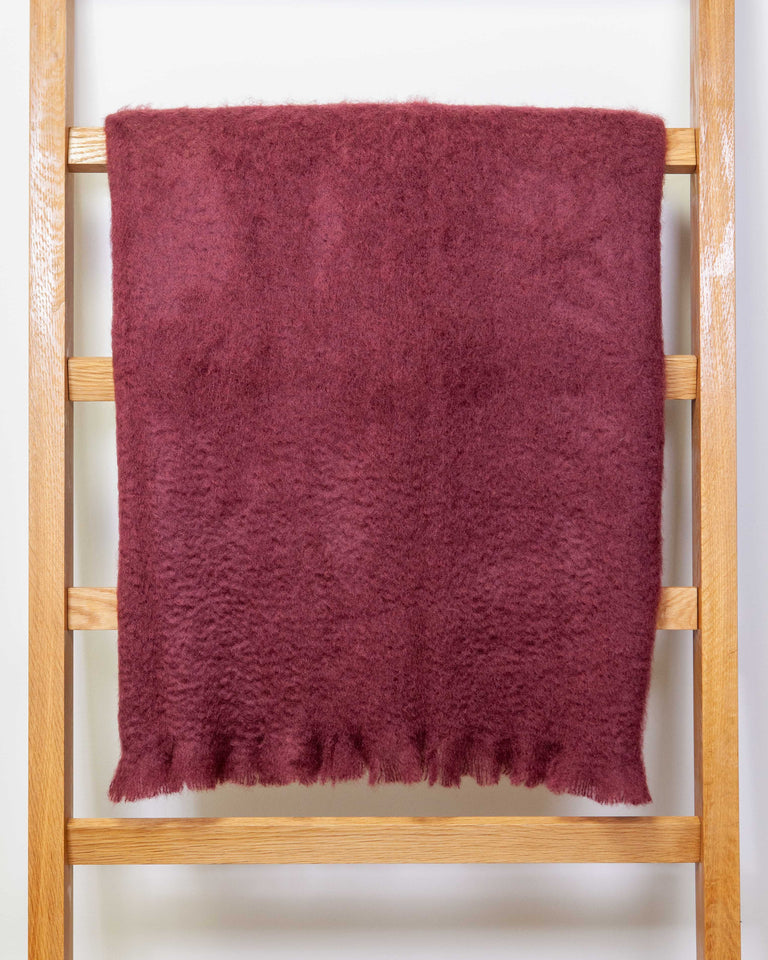 Mohair Blanket - Assorted solid colors