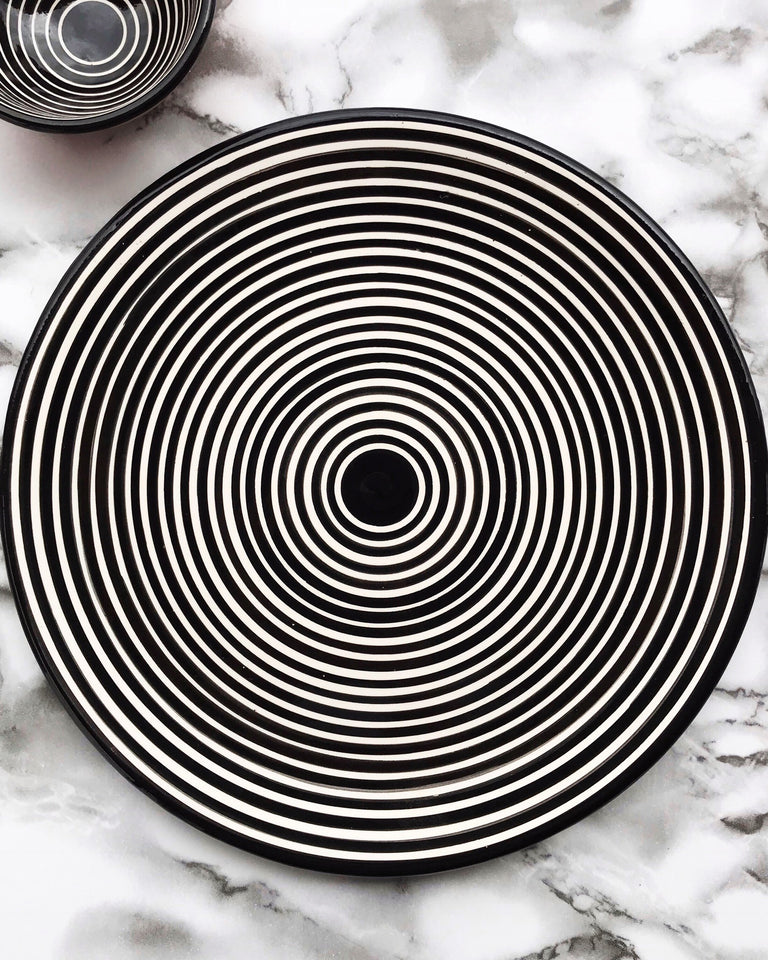Casa Cubista Graphic Tableware- Circular Striped Cheese Board