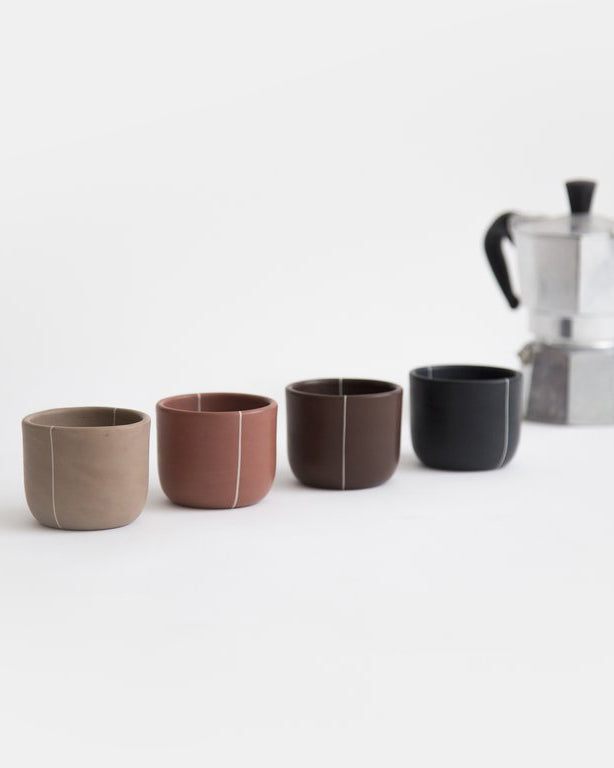Handmade clay ceramic cups