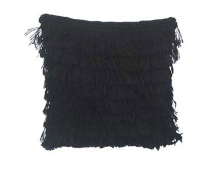 Sansevieria Peludo Pillow - Black