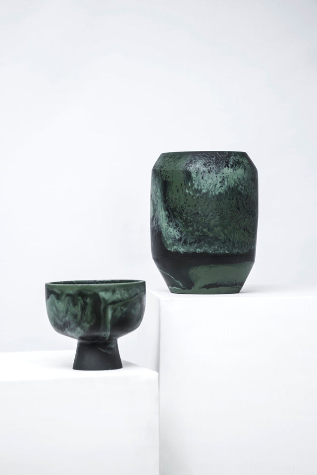 Resin Pedestal Bowl