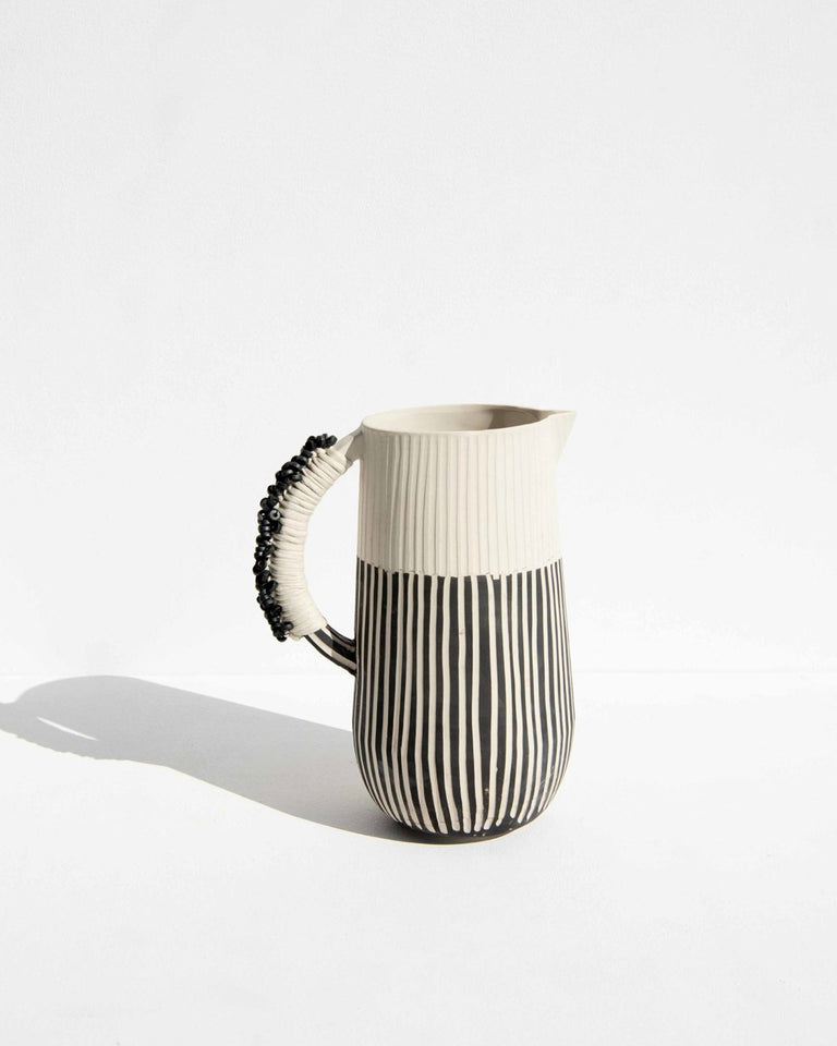 Tribal Tall B&W Jug