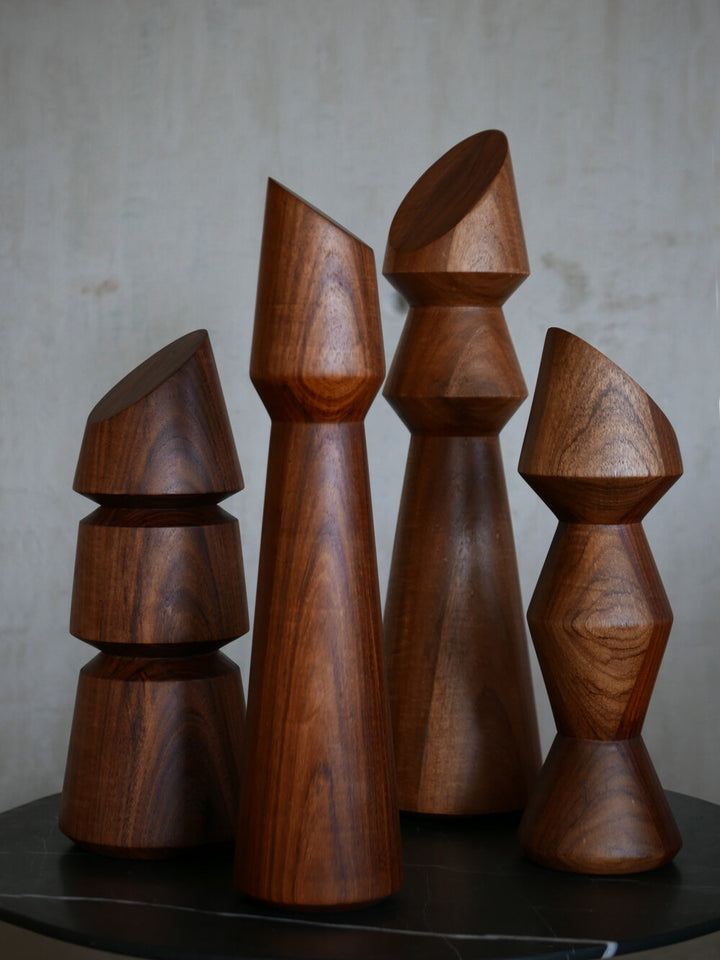 Wood Totems - set of 4