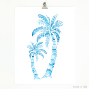 Palm tree art, classic coastal, simple coastal decor.