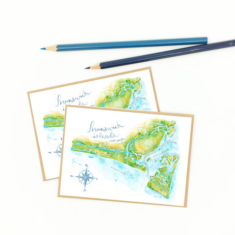oak island gifts, nc, boxed set of notecards.