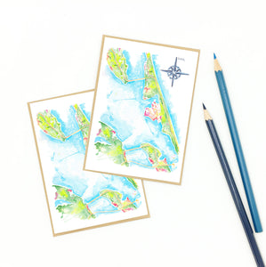 Kill Devil Hills map notecards