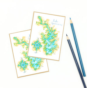 lake norman souvenir, map notecard set, gifts.