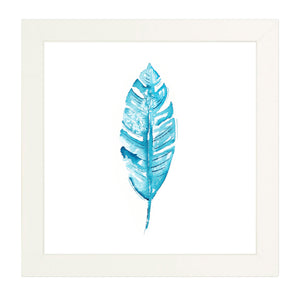 Tropical leaf print, banana leaf in watercolor.