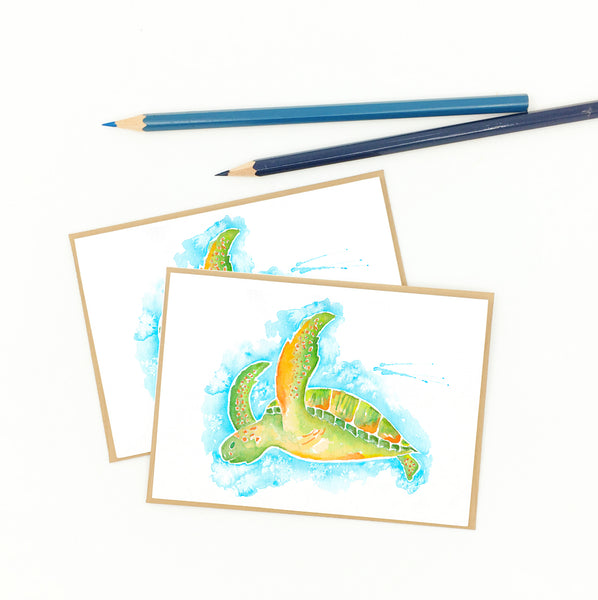 Sea Turtle Gift Boxed Set of Notecards, Eight (8)