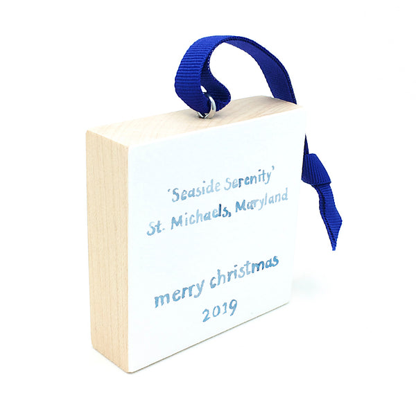 St. Michaels Maryland Holiday Ornament