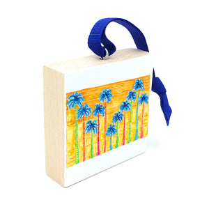 gifts for beach lovers, palm tree ornament.