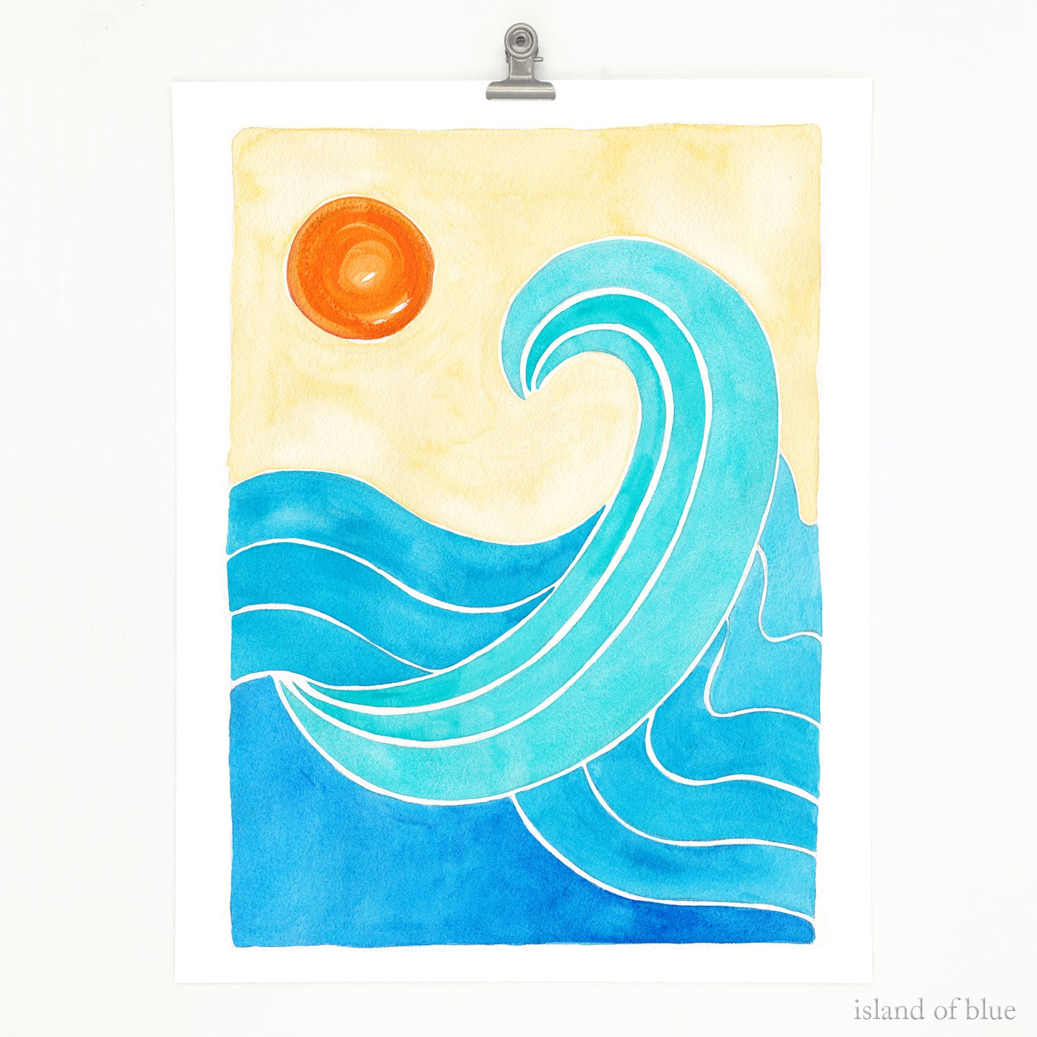 abstract wave art, modern wave art.