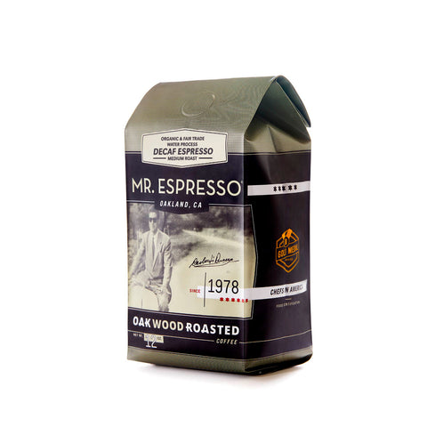 Organic Decaf Espresso  6 X 12oz. Ground