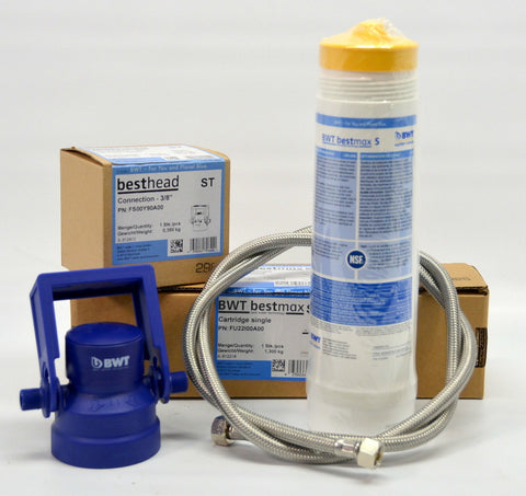 BWT Bestmax Premium Plumbed Installation kit M Filter & Head