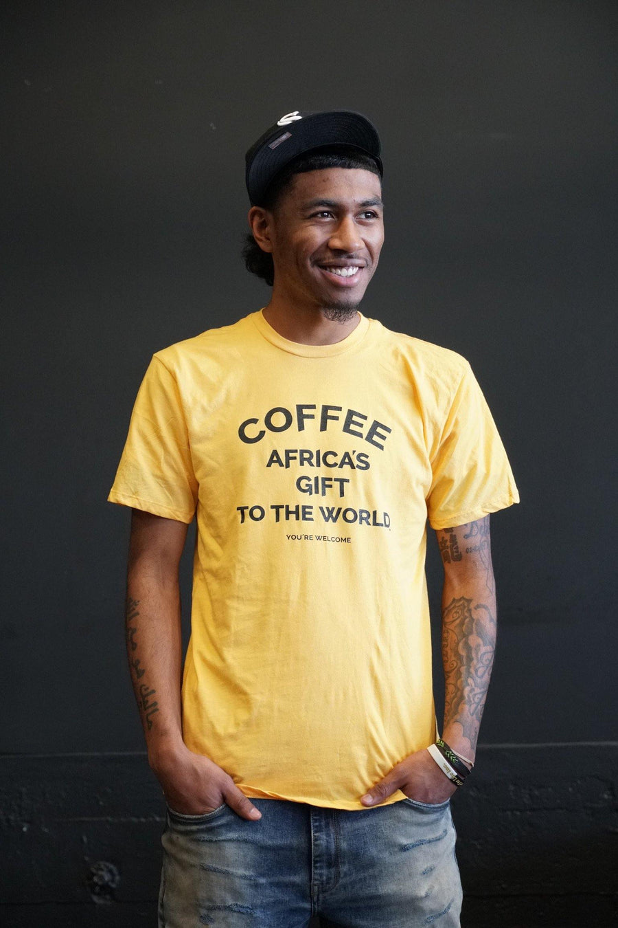 Africa's Gift Unisex Tee - Gold - Red Bay Coffee