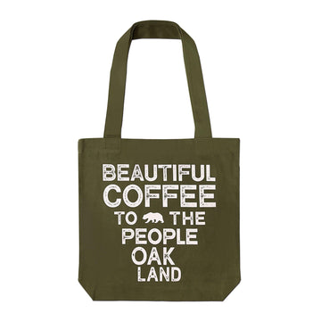 Beautiful Coffee to the People Tote Bag - Green - Red Bay Coffee