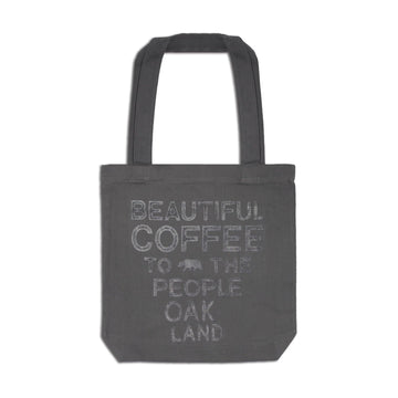Beautiful Coffee to the People Tote Bag - Gray - Red Bay Coffee