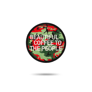 Embroidered Patch - Beautiful Coffee red-bay-coffee Merchandise.