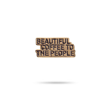 Enamel Pin - Beautiful Coffee red-bay-coffee Merchandise.
