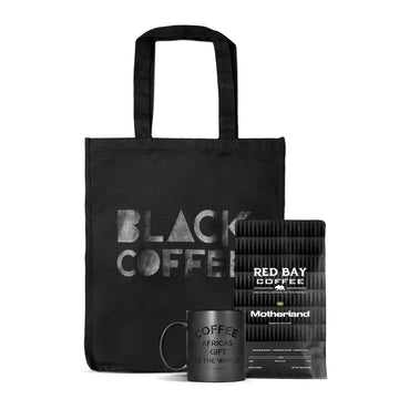 Gift Bundle: Black Tote (SM), Mug & Roaster's Choice Coffee - Red Bay Coffee