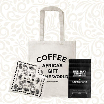 Mother's Day Gift Bundle: Natural Tote, Bandana Scarf & Roaster's Choice Coffee - Red Bay Coffee