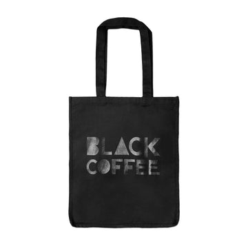 Tote Bag  - Black Coffee - Black red-bay-coffee Merchandise.