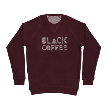 Unisex Sweatshirt - Black Coffee - Wine red-bay-coffee Merchandise.