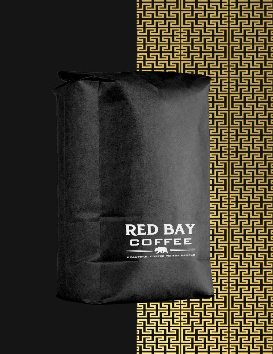 Whole Bean Service Bag - 5 LB red-bay-coffee .