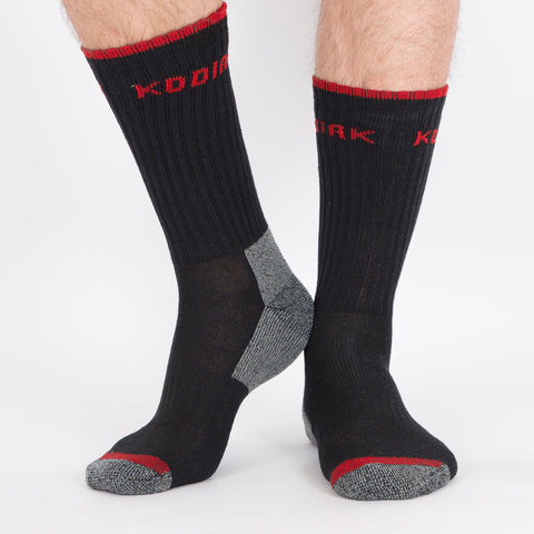 Kodiak Men's 2PK Cotton Crew Sock - Black
