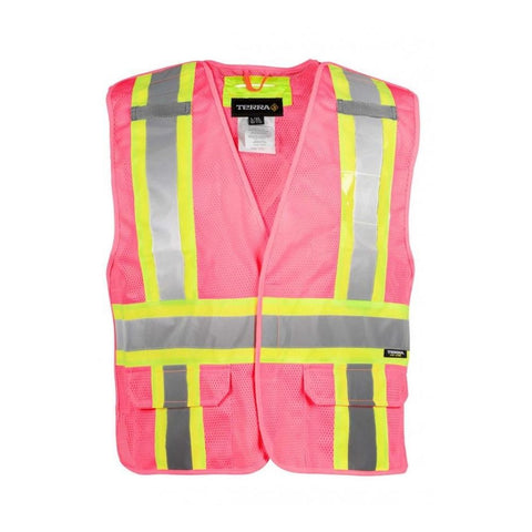 Gilet Tear Away Terra Hi-Vis 5 Points - Rose 116523PK