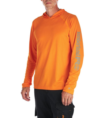 Sweat à capuche Timberland PRO Wicking Good pour hommes - Orange