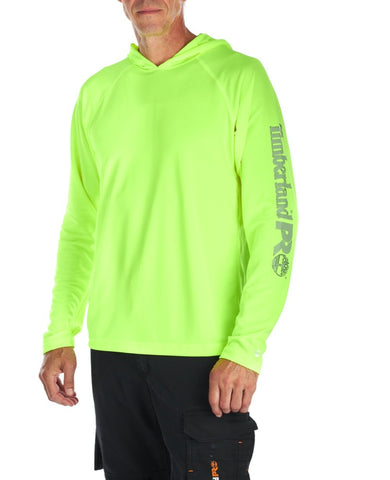 Sweat à capuche Timberland PRO Wicking Good pour hommes - Jaune