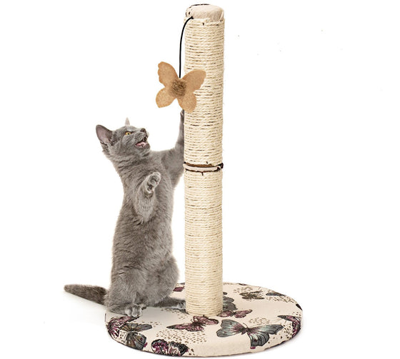 Animals Favorite Cat Scratching Post with Hanging Butterfly Toy