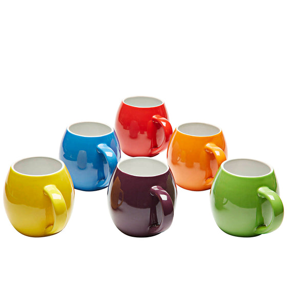 Premium Ceramic Set of 6, Colorful Meal Stoneware (Coffee Mugs)